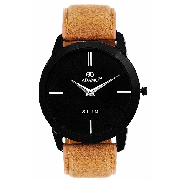 ADAMO Black Dial Mens Watch