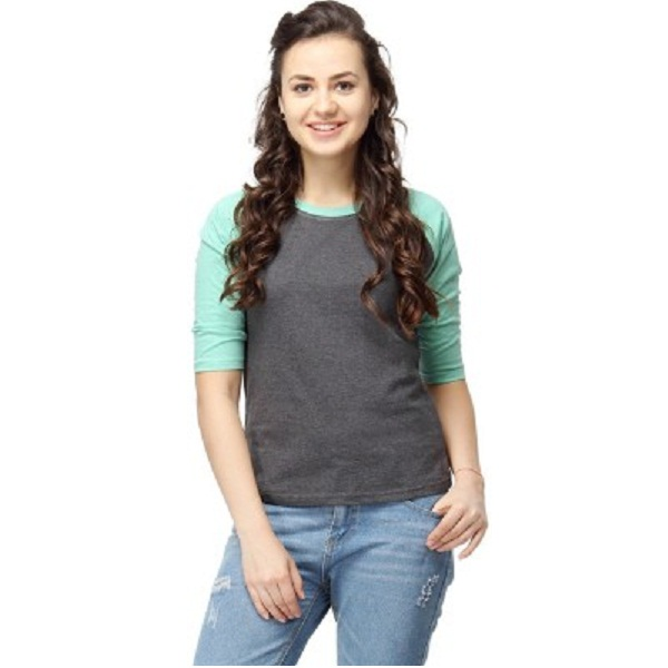 Campus Sutra Casual Womens Green Top