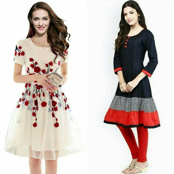 Sky Global Womens Regular Wear Kurti Combo