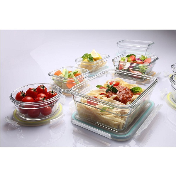 Glasslock Airtight Break Resistant Glass Kitchen Food Storage Container