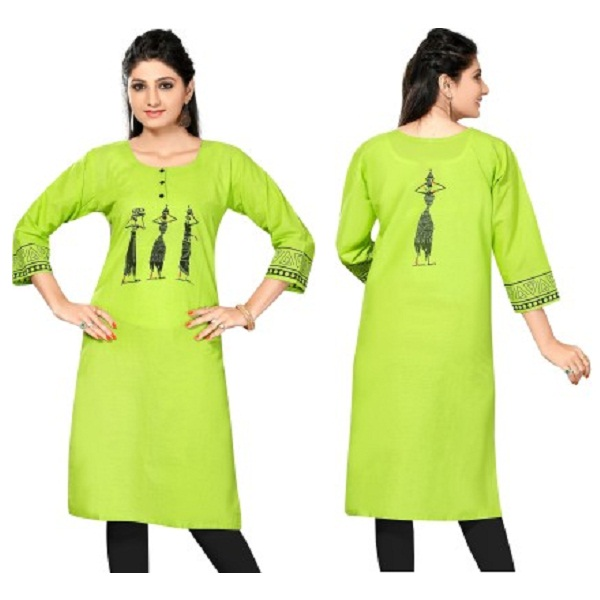Meher Impex Casual Solid Printed Womens Kurti