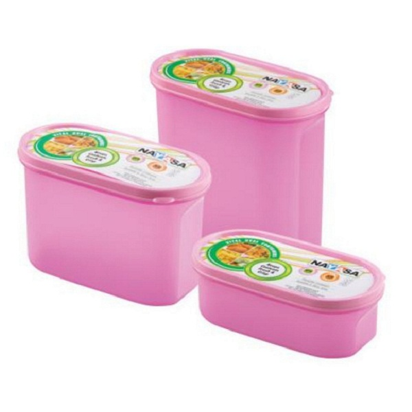 Nayasa Vital Oval Plastic Container 3 Pieces