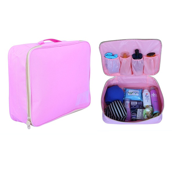 PackNBUY PINK Large Toiletry Pouch Organizer for Make up Cosmetics Shaving Kit