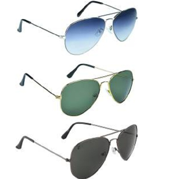 Zyaden Combo Pack Aviator Sunglasses
