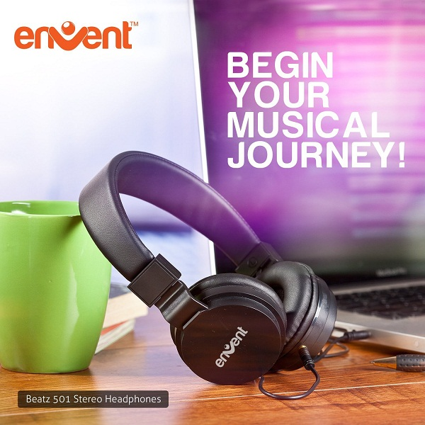 Envent Premium Foldable Wired Headphone
