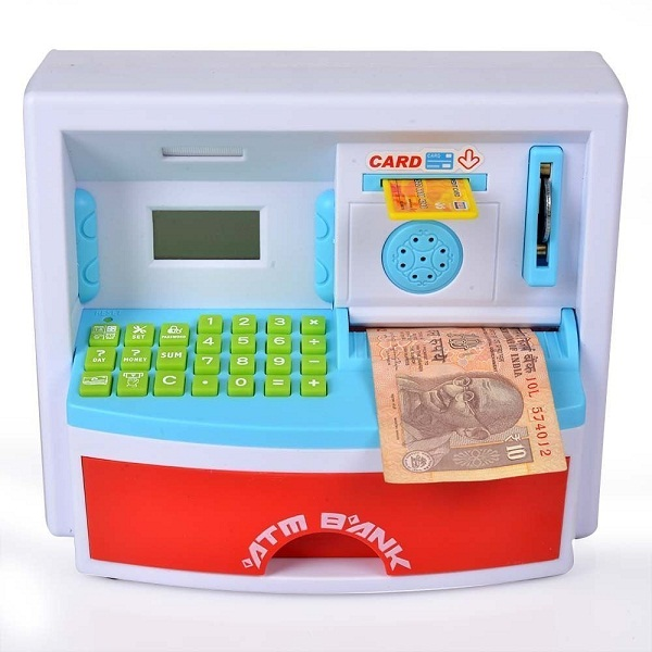 Catterpillar Interactive Learner And Educational Money Safe Atm Piggy Bank with Personallized ATM Card