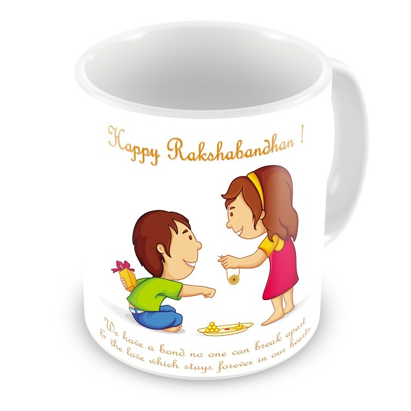 Happy Rakshabandhan Tieing Rakhi Printed Best Quality Ceramic Mug