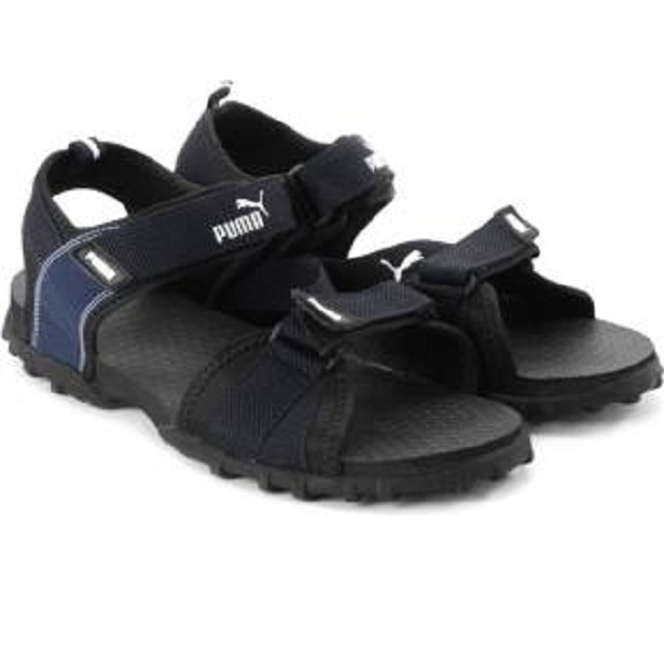 Puma Rio Men Black Blue Sports Sandals
