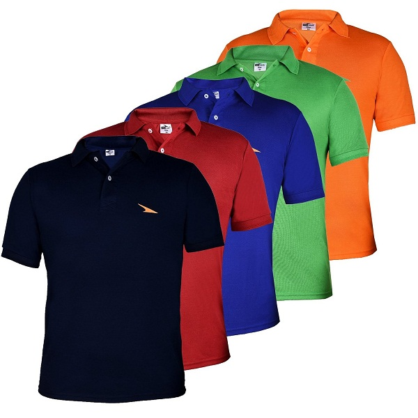 PRO Lapes Mens Multicolor Polo T Shirt Set of 5