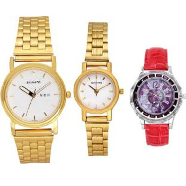 Sonata UTF74 TRIPLET DAY N DATE COMBO Analog Watch