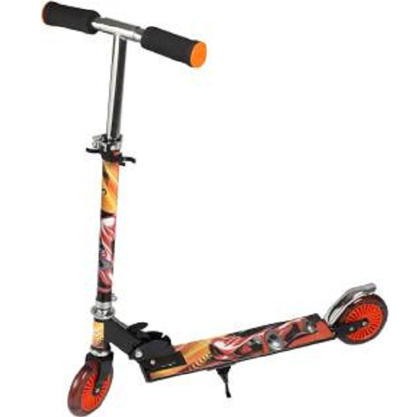 Toyhouse Height Adjustable Folding Scooter with Wheel lights