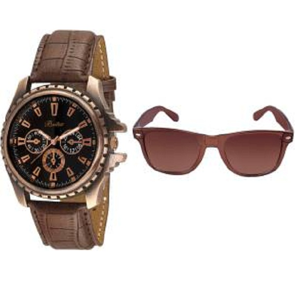 Britex Octane Ultimate Chronograph Pattern Analog Watch with Free Sunglass
