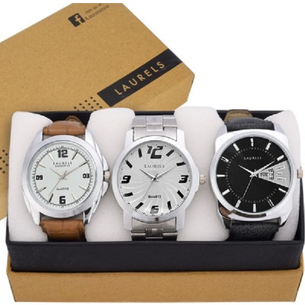 Laurels Triple Combo Series Analog Watch For Men