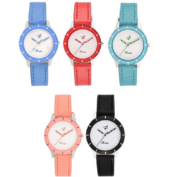 Britex Elle 5 Color Combo Valentine Analog Watch