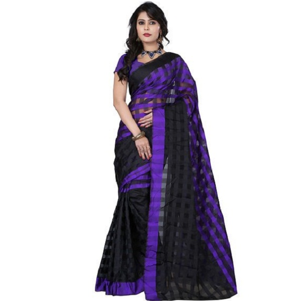 FabPandora Floral Print Fashion Art Silk Sari