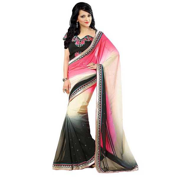 Glory Sarees Womens Designer Georgette Saree