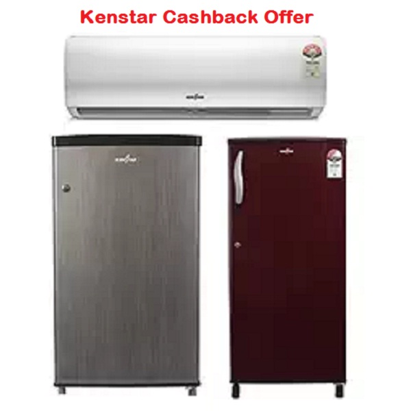 LIMITED PERIOD OFFER Chance to win 100 Percent cashback on the purchase of a Kenstar AC or Refrigerator today