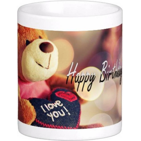 Exoctic Silver Happy Birthday To You Ceramic Mug
