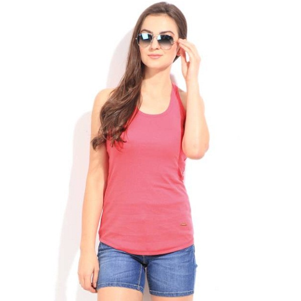 United Colors of Benetton Casual Sleeveless Solid Womens Top