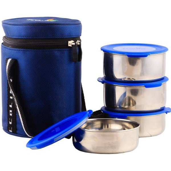 Ecoline Appliances V4 Blue 4 Containers Lunch Box