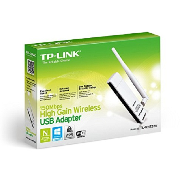 TP Link TL WN722N 150Mbps Wireless USB Adapter