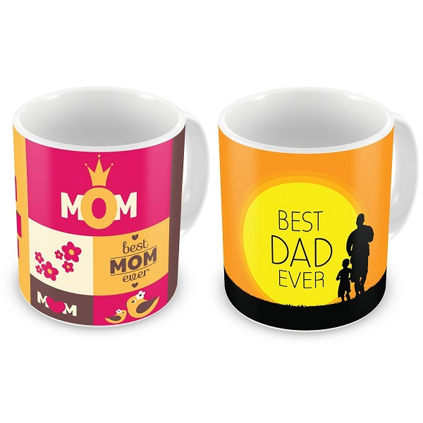 Gift for Dad And Mom Ceramic Mug set of 2