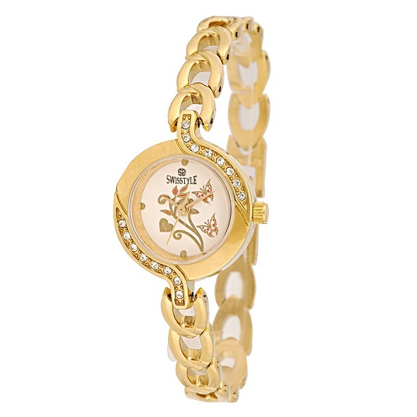 Swisstyle Analogue Gold Dial Womens Watch