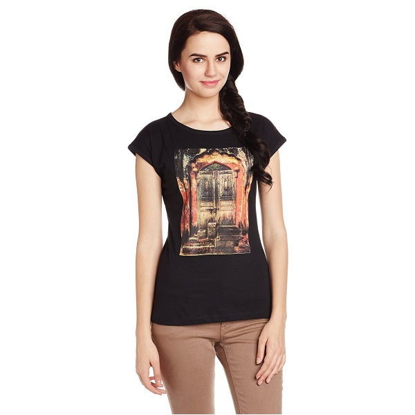 Style Quotient By Noi Womens Graphic Print T Shirt