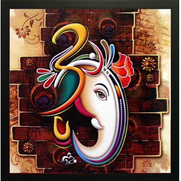SAF Ganesh Ji Canvas Painting