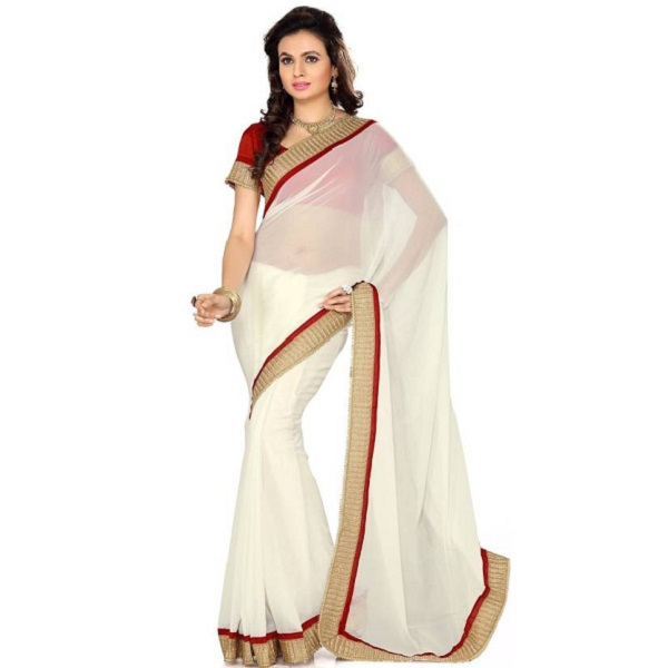 SareeShop Self Design Fashion Georgette Sari