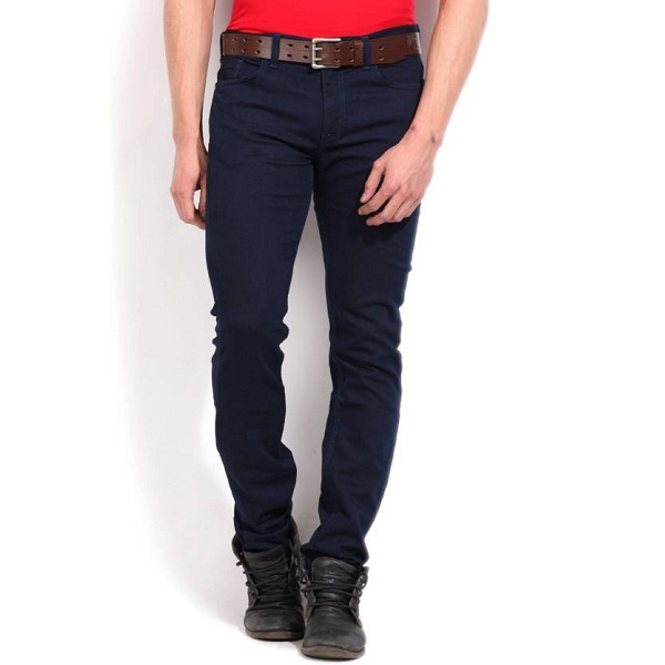 Newport Slim Fit Mens Blue Jeans