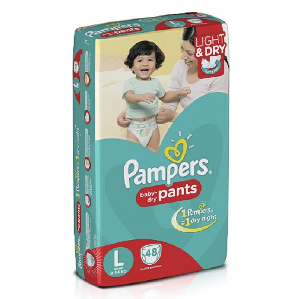Pampers Large Size Diaper Pants 48 Count
