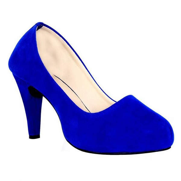 Sam Stefy Women Blue Heels