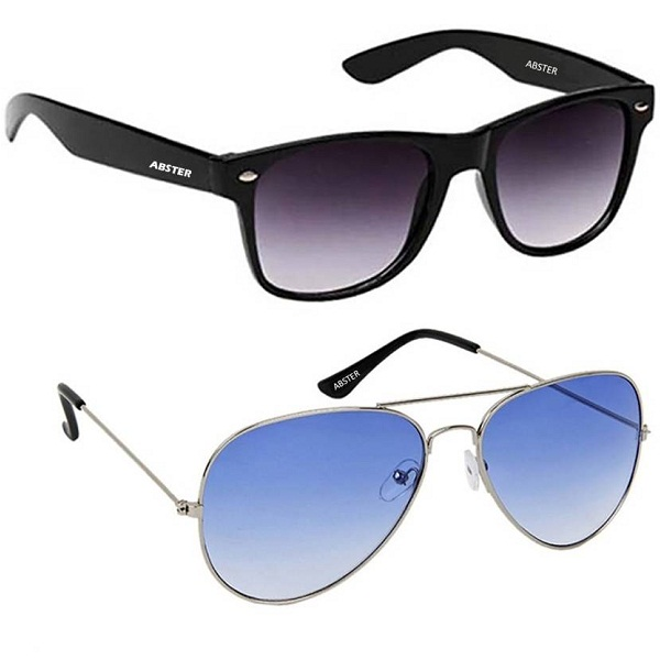 Abster Combo Aviator Wayfarer Sunglasses