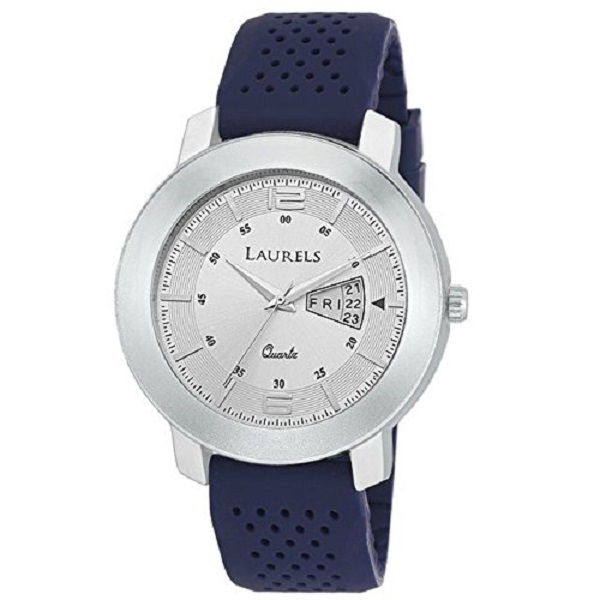 Laurels Outlander Analog White Dial Mens Watch