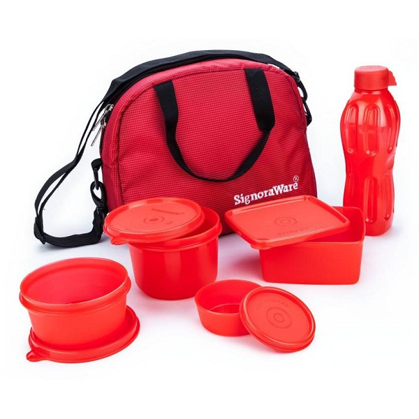 Signoraware 558Red 4 Containers Lunch Box