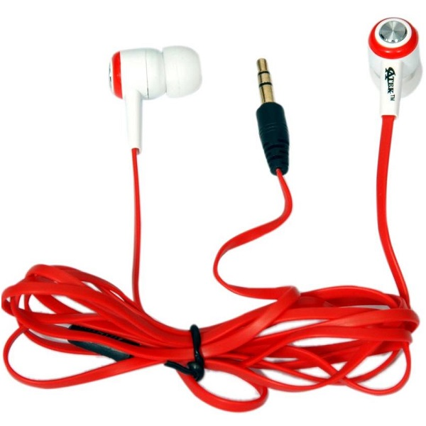 Atek 5860 Red Wired Headphones