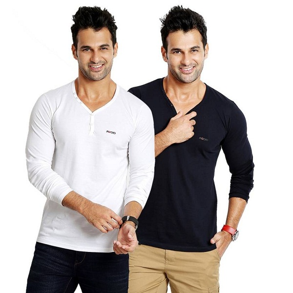 Rodid Solid Mens T Shirt Pack of 2