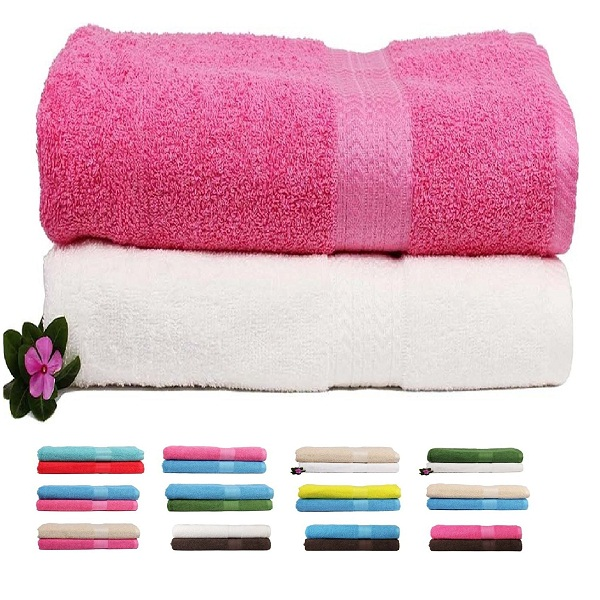 Trident 450 GSM Premium Cotton 2 Pcs Bath Towels