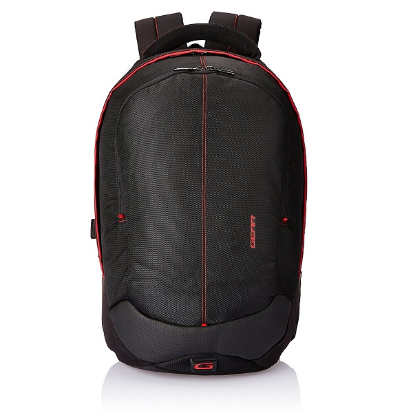 Gear Outlander 36 ltrs Black and Red Casual Backpack