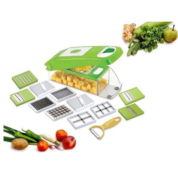 Floraware 12Piece Kitchen Dicer Mandoline Grater Chopper