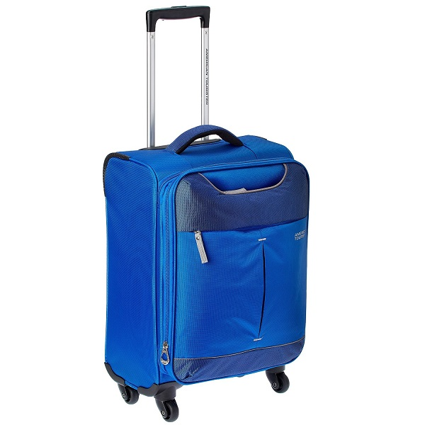 American Tourister Sky Polyester 55Cms Blue Soft Sided Suitcase