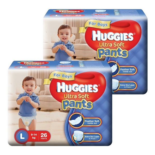 Huggies Ultra Soft Pants Large Size Premium Diapers Combo
