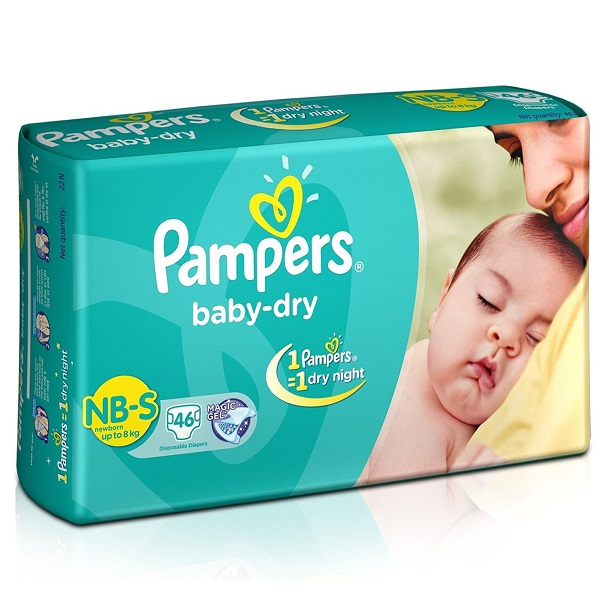 Pampers Baby Dry Diapers NB Small Size