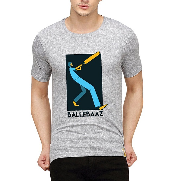 Campus Sutra Men Printed Half Sleeve Round Neck T Shirts Ballebaaz