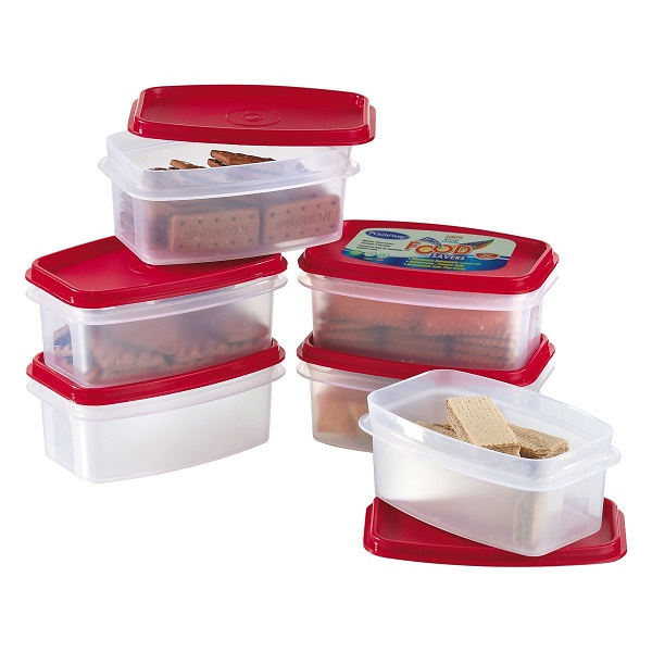 Primeway Modular Kitchen Food Savers Plastic Storage Containers 6 Pcs Set