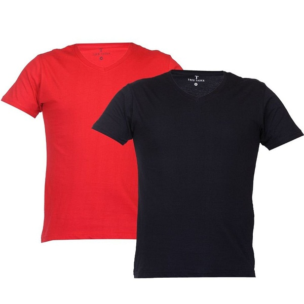TeesTadka Mens Cotton T Shirt Pack of 2