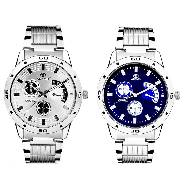 Adamo Analogue Multi Colour Dial Watch Combo