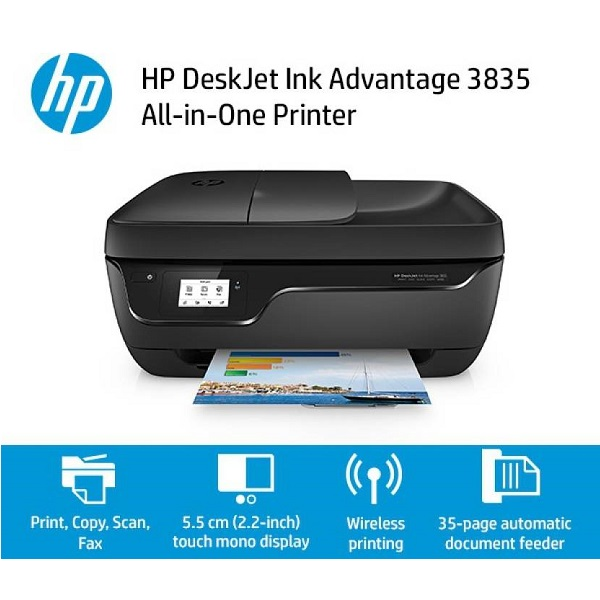 HP DeskJet Ink Advantage 3835 All in One Multi function Printer