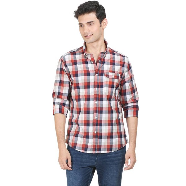 Flippd Mens Checkered Casual Shirt